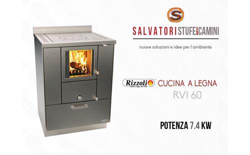 Cucina a Legna 7.4 Kw Rizzoli modello RVI 60