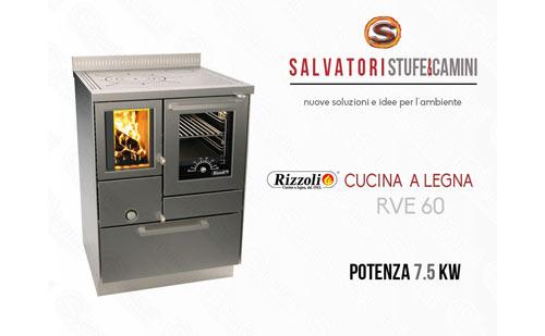 Rizzoli Cucine Personalizzate : Cucina a legna 7.5 kw rizzoli modello rve 60