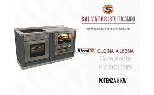 Cucina a Legna 8 Kw Rizzoli combinata MZ 70 Combi