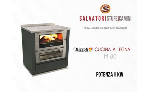 Cucina a legna 8 kw rizzoli modello m 80 - Cucina a legna rizzoli ...