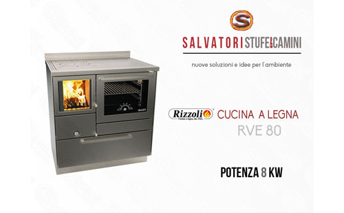 Rizzoli Cucine Personalizzate : Cucina a legna 8 kw rizzoli modello rve 80