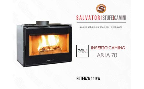Inserto camino a legna moretti modello aria 70 for Inserto camino