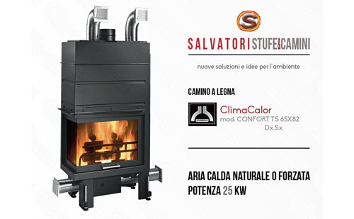Camini aria calda ventilata a legna ClimaCalor