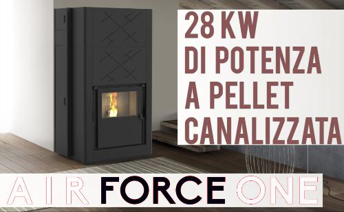 Stufa a Pellet ad aria ventilata forzata Karmek One modello Air Force One
