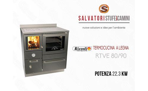 Termocucina a Legna Rizzoli modello RTVE 80/90 con forno