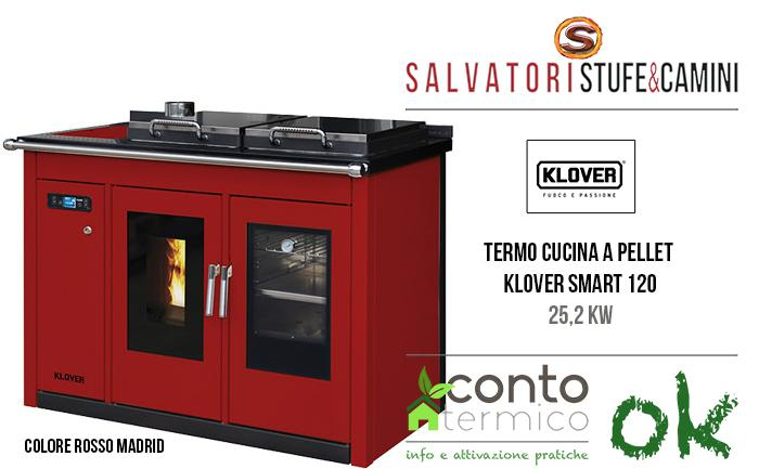 Termocucina a pellet 25,2 kw Klover Smart 120 TB