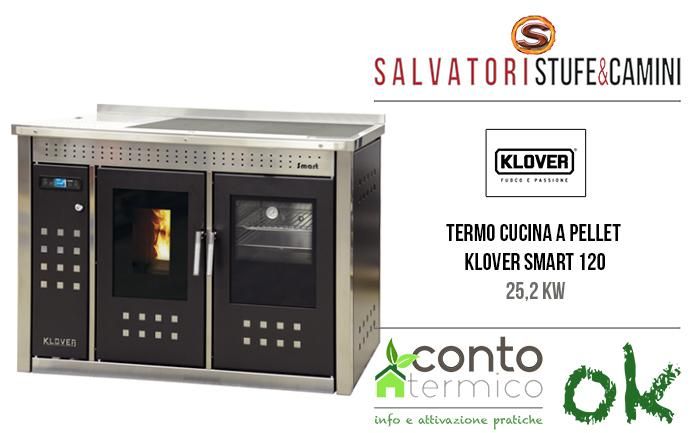 Termocucina a pellet Klover 25,2kw