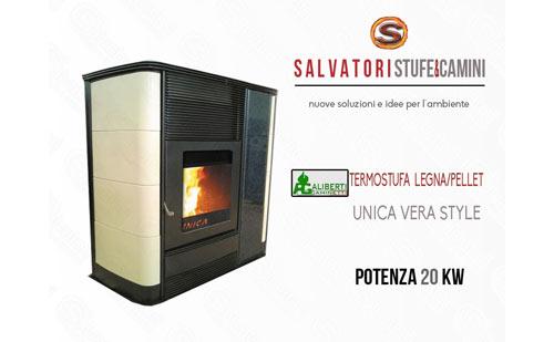 Termostufa combinata legna pellet aliberti modello unica - Termostufa combinata legna pellet ...