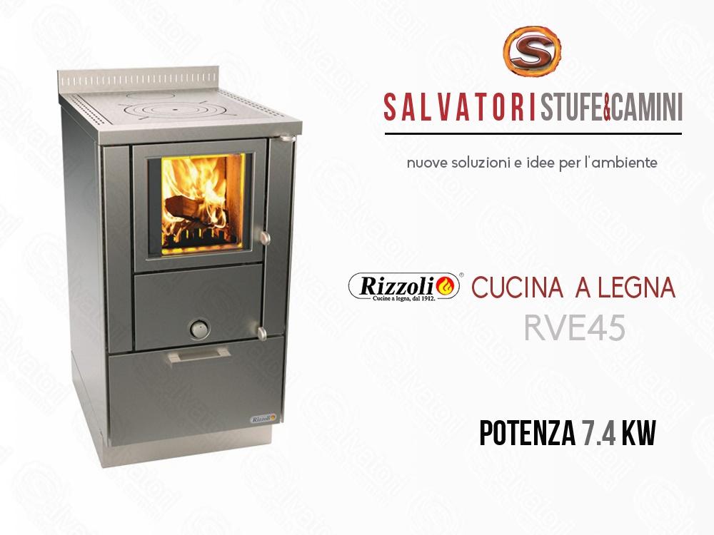 Cucina a Legna 7.4 Kw Rizzoli modello RVE 45