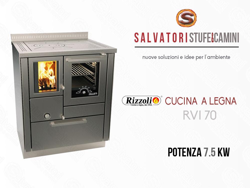 Cucina a legna 7 5 kw rizzoli modello rvi 70 - Cucina a legna rizzoli ...