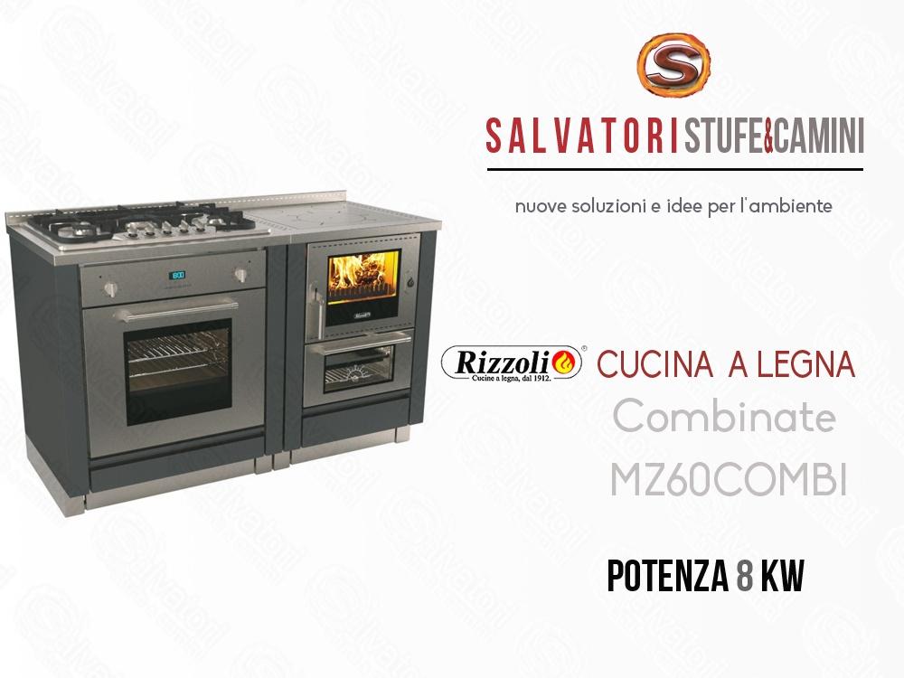 Cucina a Legna 8 Kw Rizzoli Combinata MZ 60 Combi