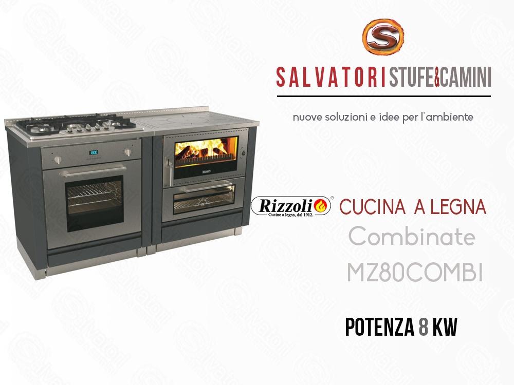 Cucina a Legna 8 Kw Rizzoli Combinata MZ 80 Combi
