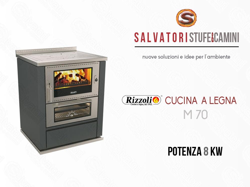 Cucina a legna 8 kw rizzoli modello m 70 - Cucina a legna rizzoli ...