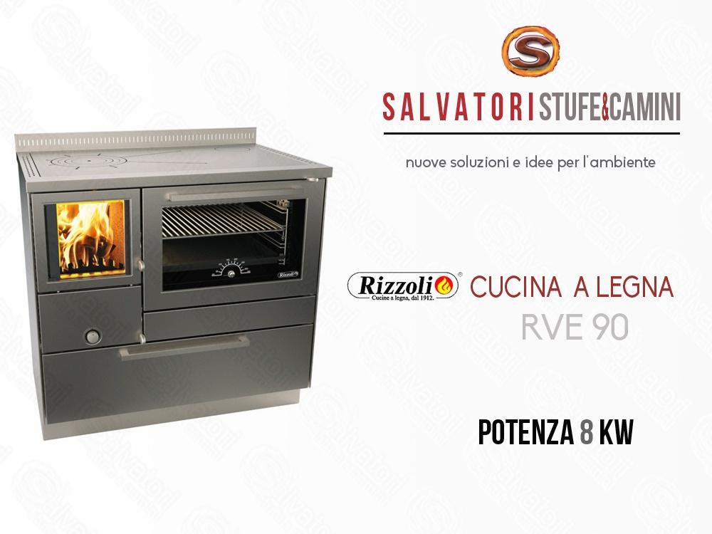 Cucina a legna 8 kw rizzoli modello rve 90 - Cucina a legna rizzoli ...