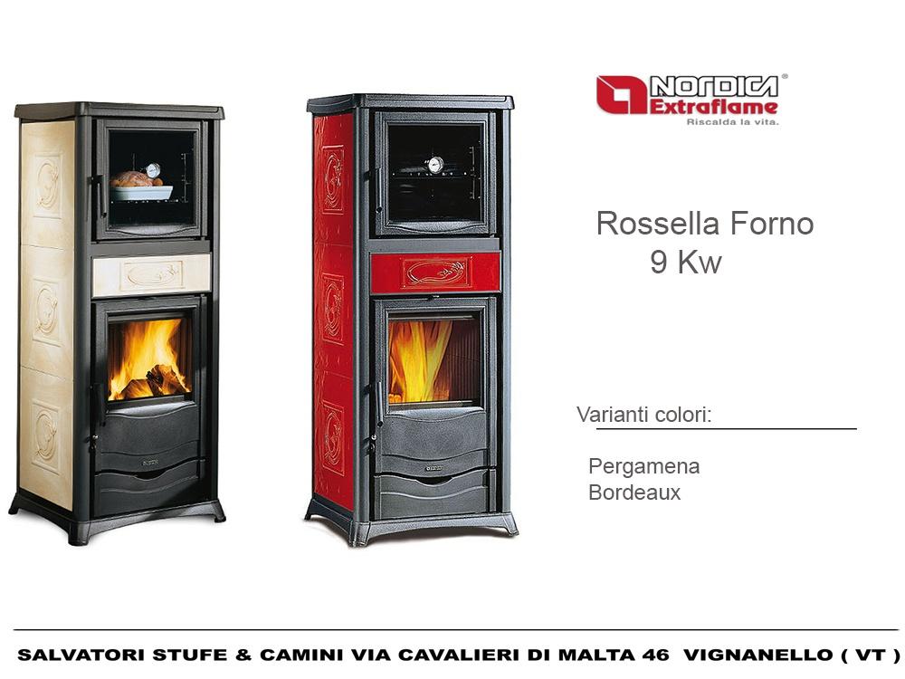 Stufa a legna con forno 9 kw nordica modello rossella - Stufa a legna nordica ...