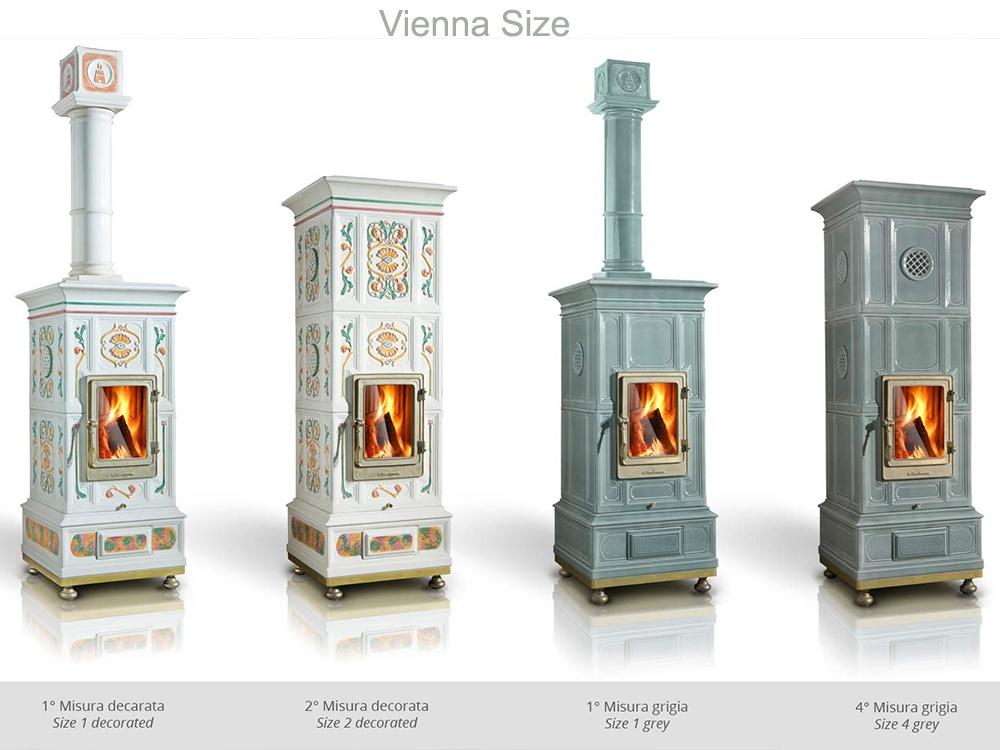 Conosciuto Stufa a legna La Castellamonte modello Vienna SR81