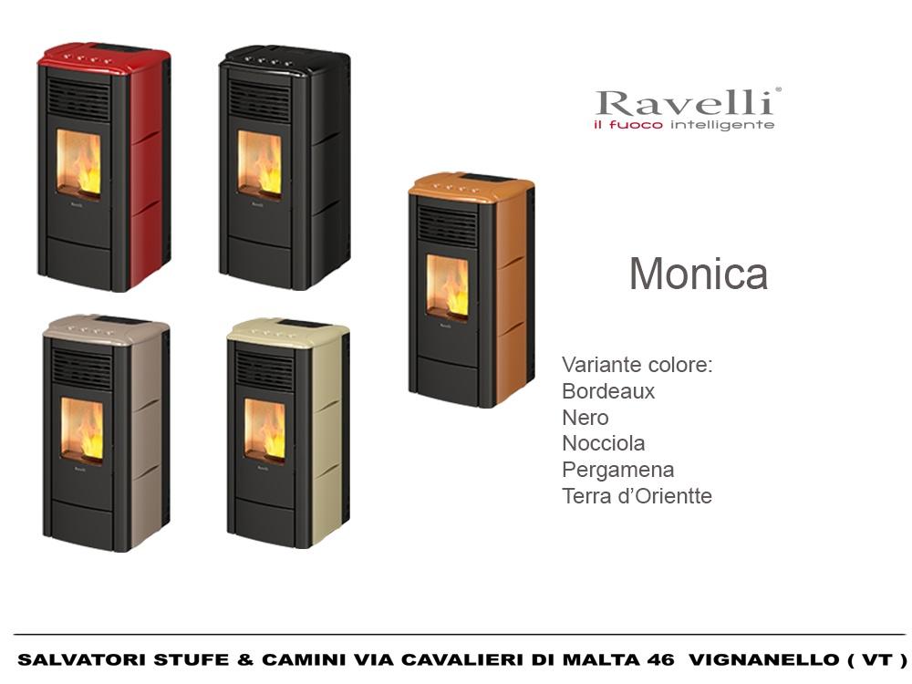 Stufa a Pellet 8,5 kw Ravelli modello Monica